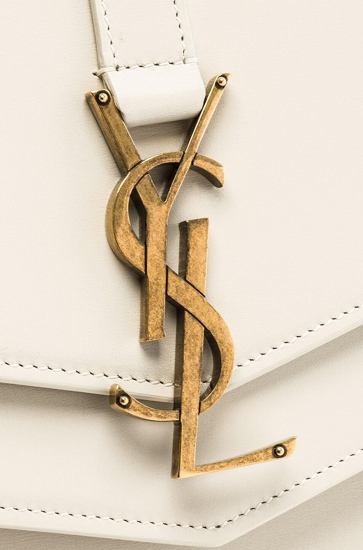 Image 8 of Saint Laurent Medium Monogramme Bag in Blanc Vintage