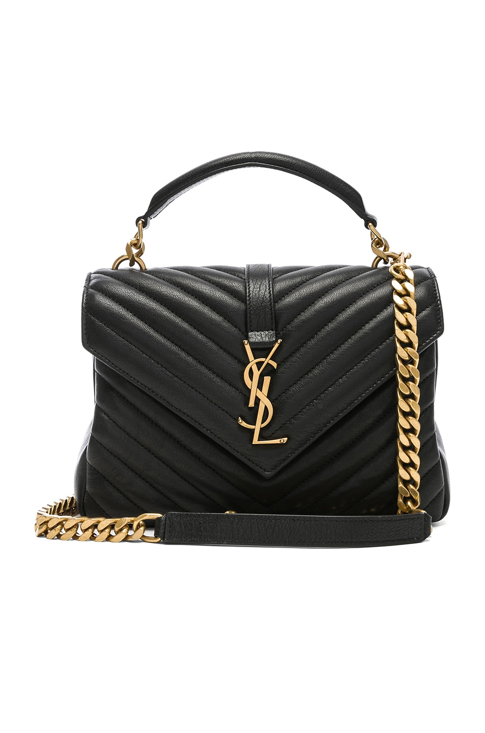 Image 1 of Saint Laurent Medium Monogramme College Bag in Black