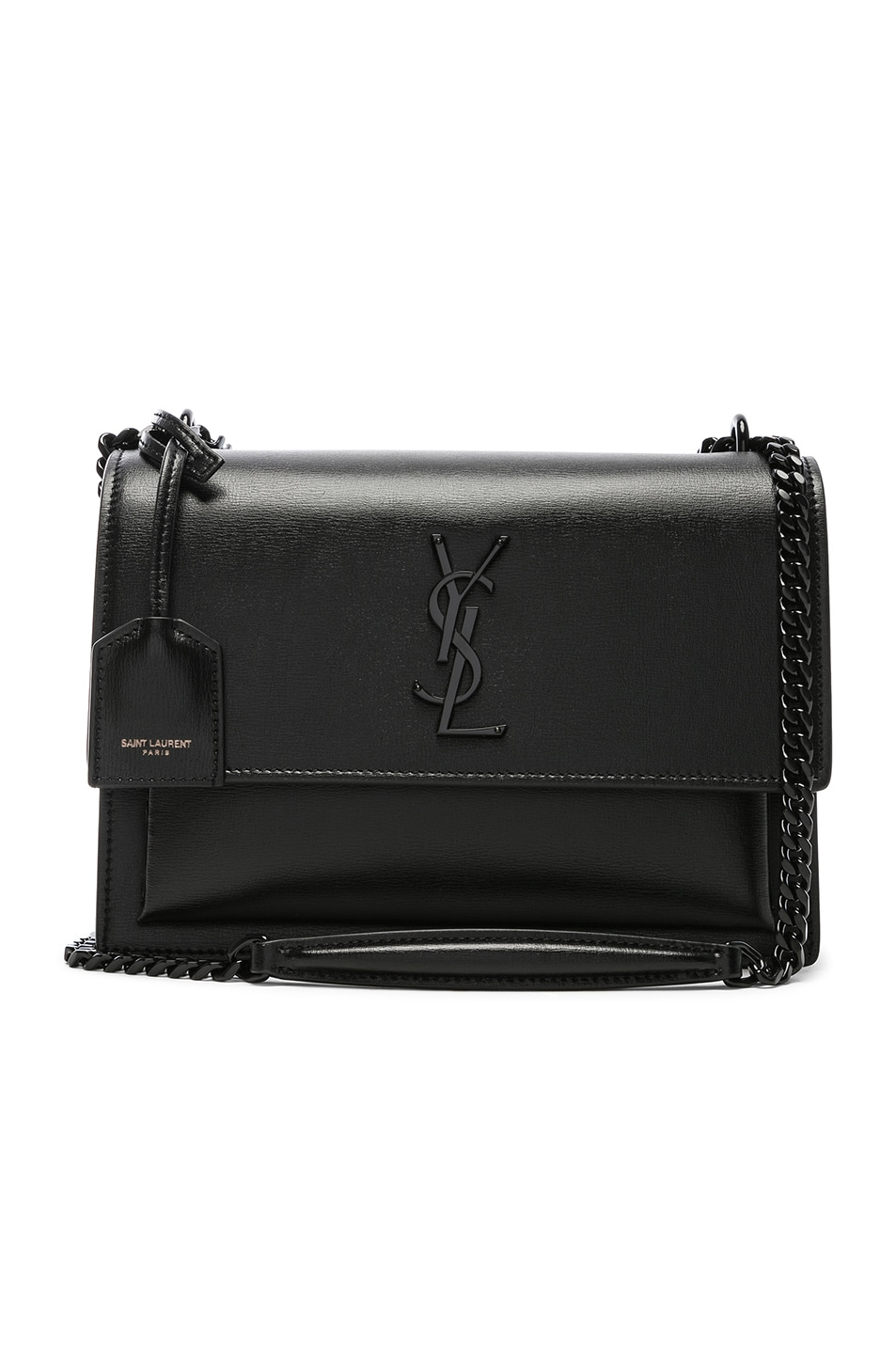 Image 1 of Saint Laurent Monogramme Sunset Shoulder Bag in Black