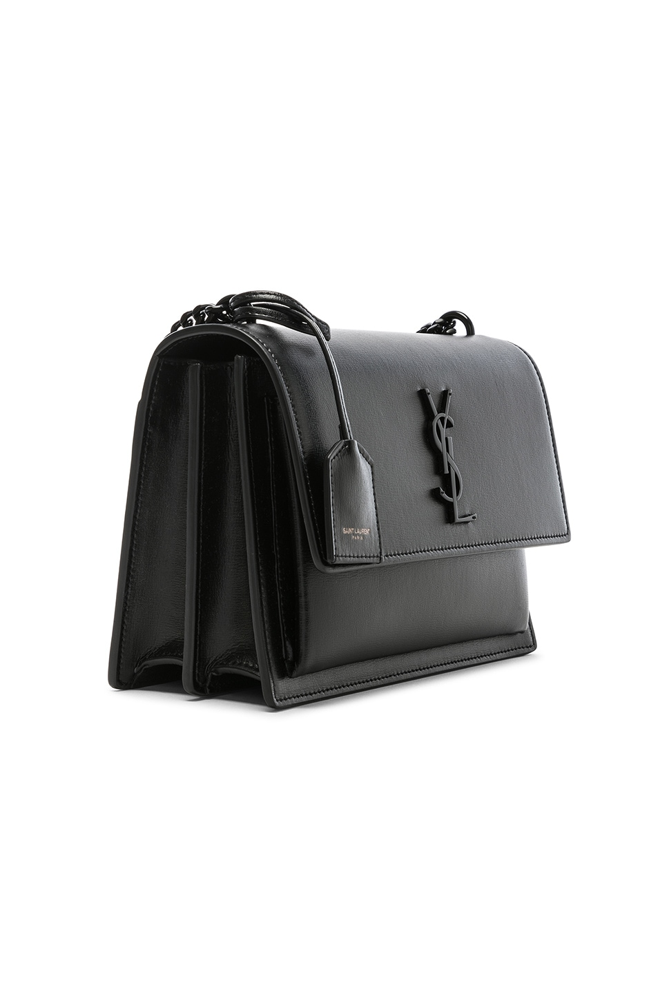 Image 4 of Saint Laurent Monogramme Sunset Shoulder Bag in Black