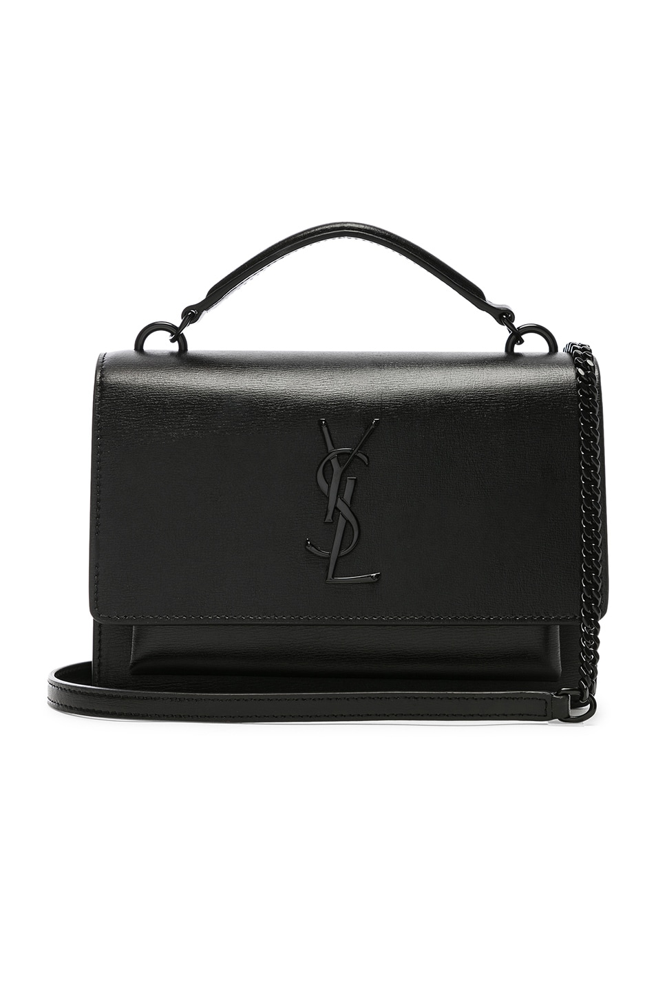 Image 1 of Saint Laurent Sunset Monogramme Bag in Black