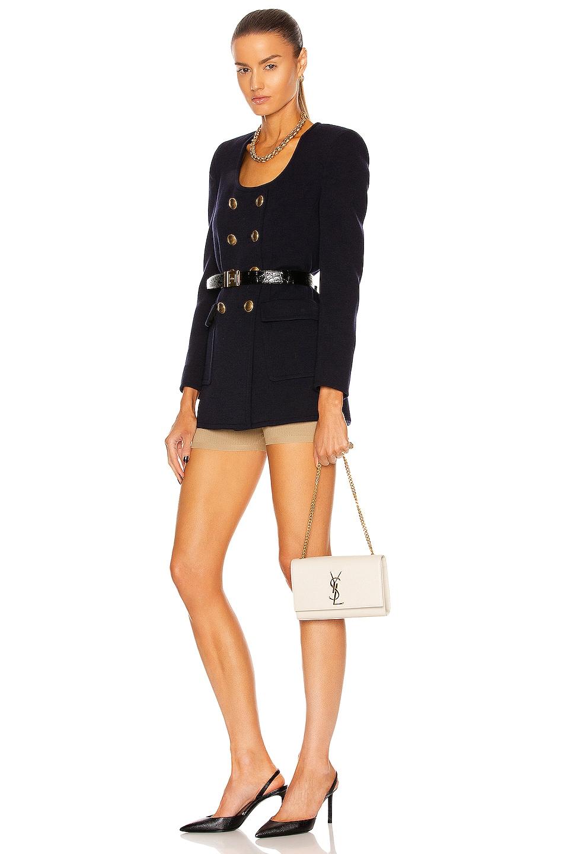 Image 2 of Saint Laurent Kate Crossbody Bag in Crema Soft