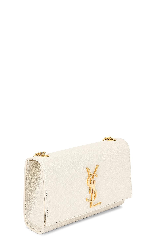 Image 4 of Saint Laurent Kate Crossbody Bag in Crema Soft