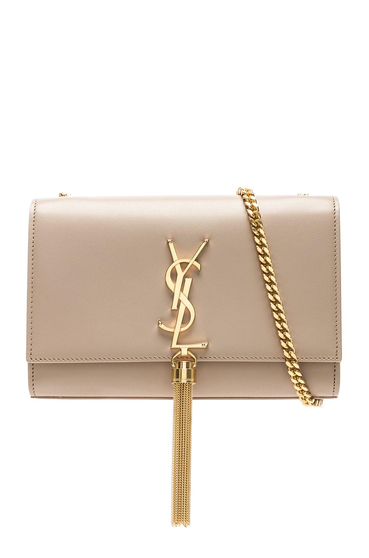 Image 1 of Saint Laurent Kate Tassel Chain Bag in Light Natural