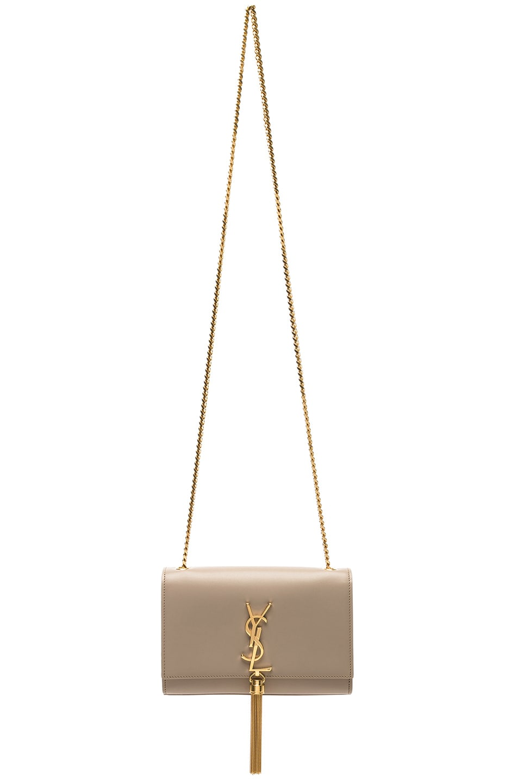 Image 6 of Saint Laurent Kate Tassel Chain Bag in Light Natural
