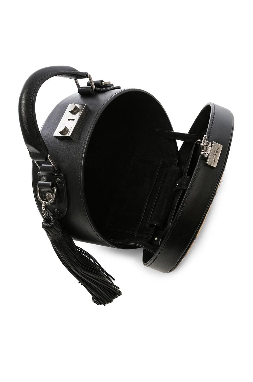 Image 5 of Saint Laurent Mica Hat Bag in Natural & Black
