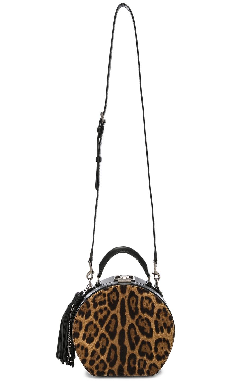 Image 6 of Saint Laurent Mica Hat Bag in Natural & Black