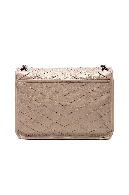 Image 3 of Saint Laurent Monogramme Niki Shoulder Bag in Light Natural