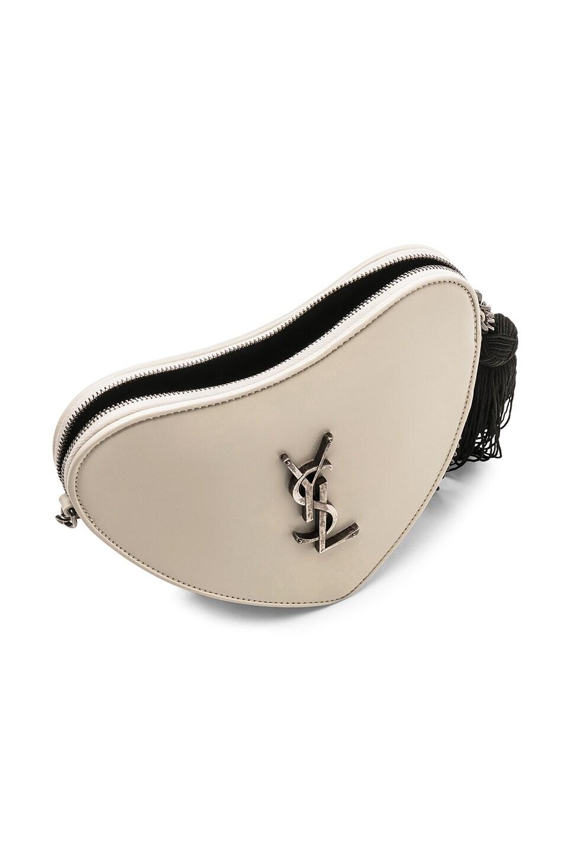 Image 5 of Saint Laurent Heart Shoulder Bag in Blanc Vintage & Black