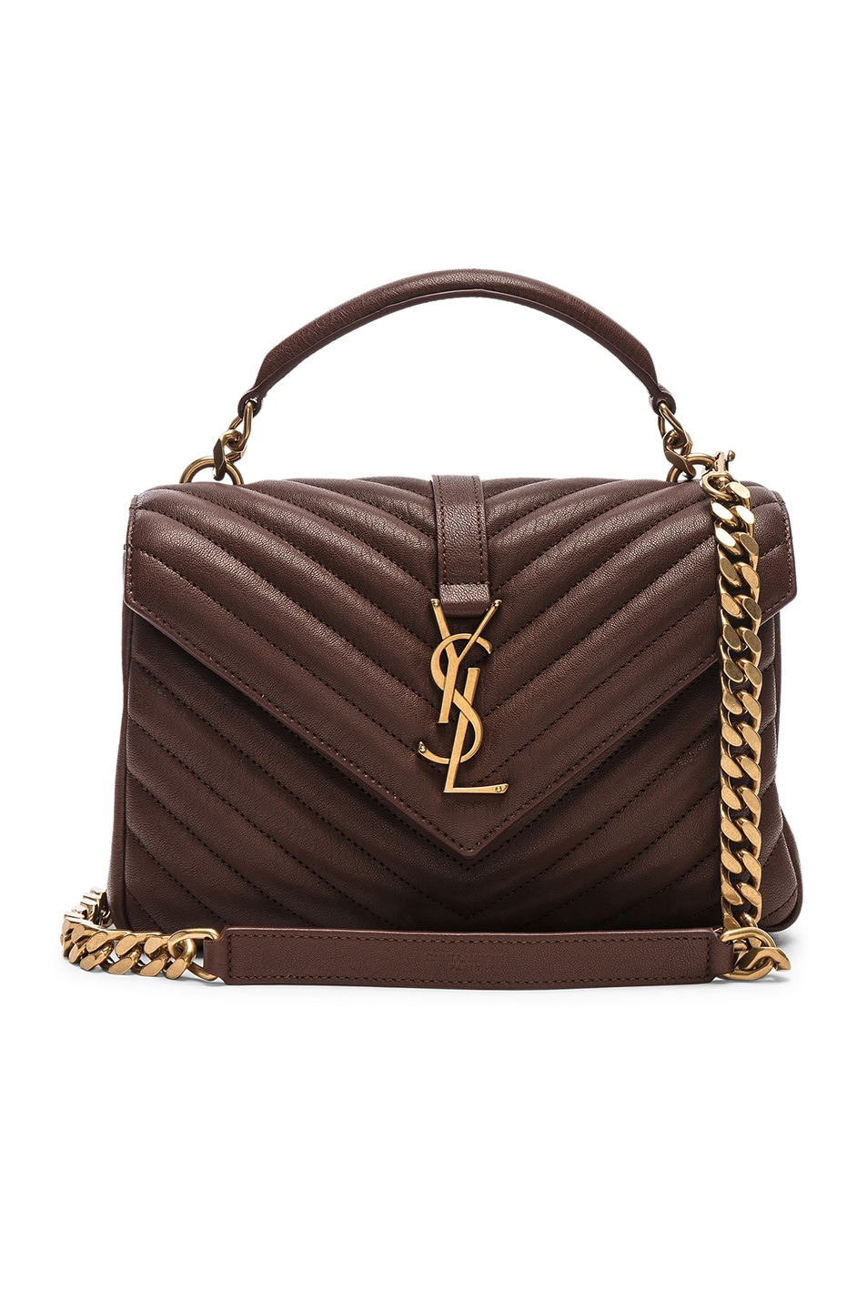 Image 1 of Saint Laurent Medium Monogramme College Bag in Old Brandy