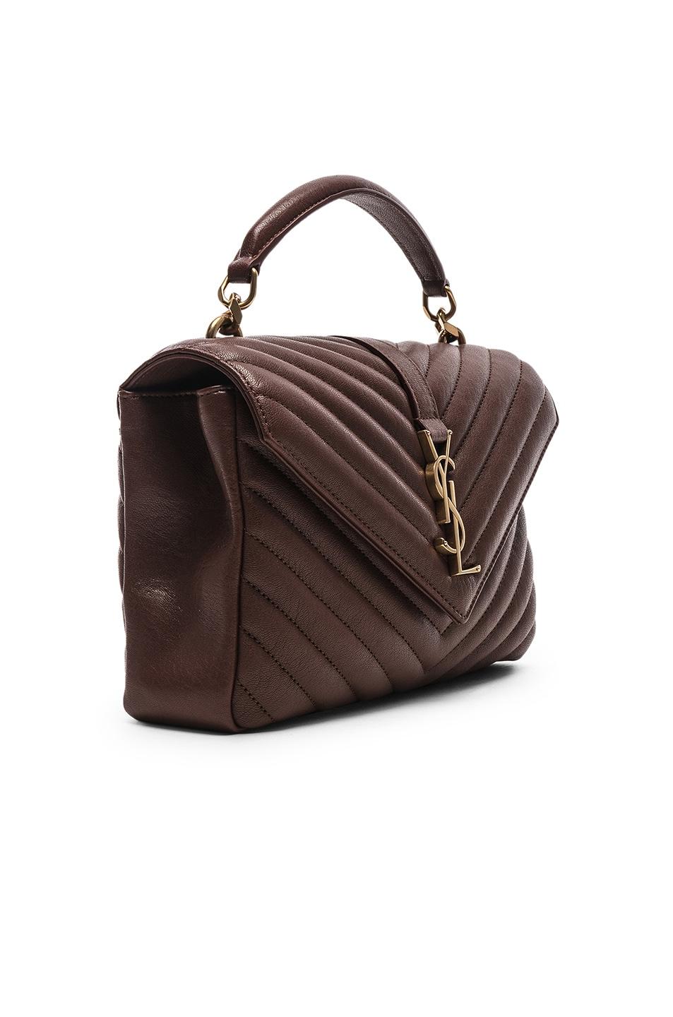 Image 4 of Saint Laurent Medium Monogramme College Bag in Old Brandy