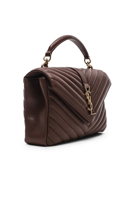 Image 4 of Saint Laurent Medium Monogramme College Bag in Old Brandy
