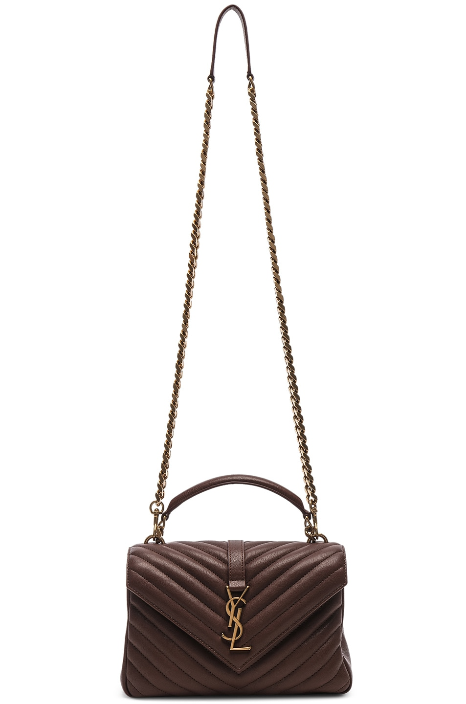 Image 6 of Saint Laurent Medium Monogramme College Bag in Old Brandy