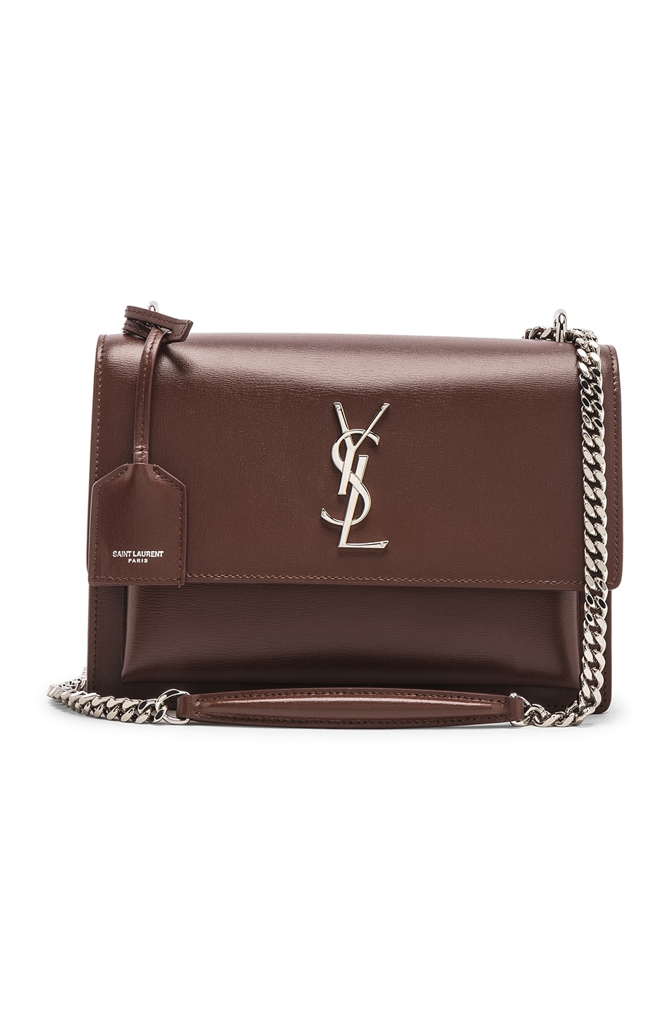 Image 1 of Saint Laurent Monogramme Sunset Shoulder Bag in Old Brandy