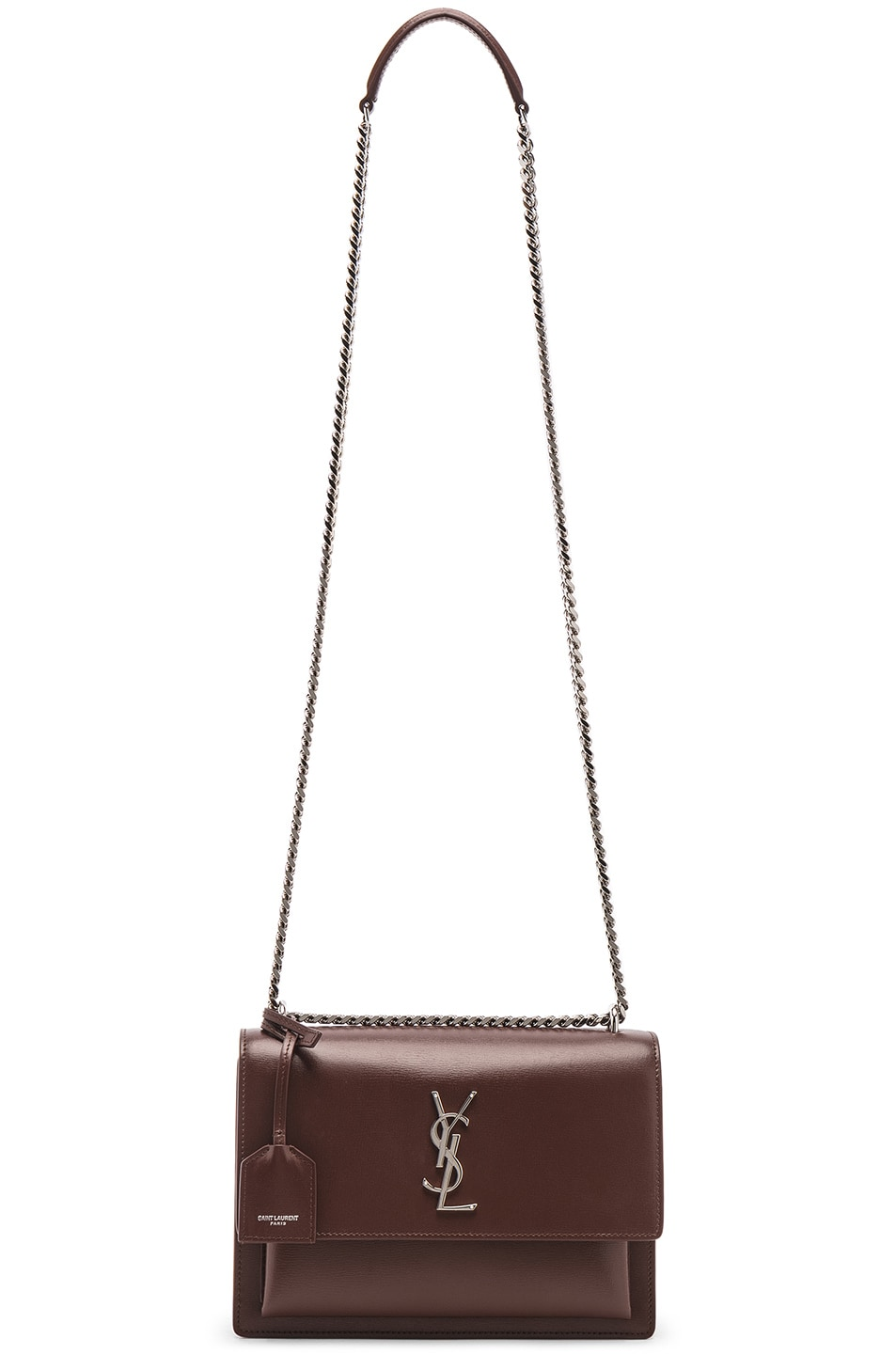 Image 6 of Saint Laurent Monogramme Sunset Shoulder Bag in Old Brandy