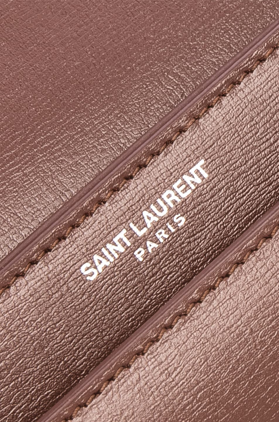 Image 7 of Saint Laurent Monogramme Sunset Shoulder Bag in Old Brandy