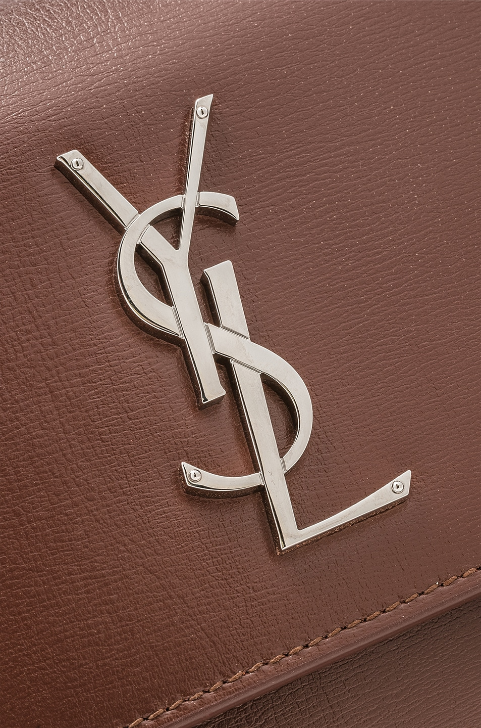 Image 8 of Saint Laurent Monogramme Sunset Shoulder Bag in Old Brandy