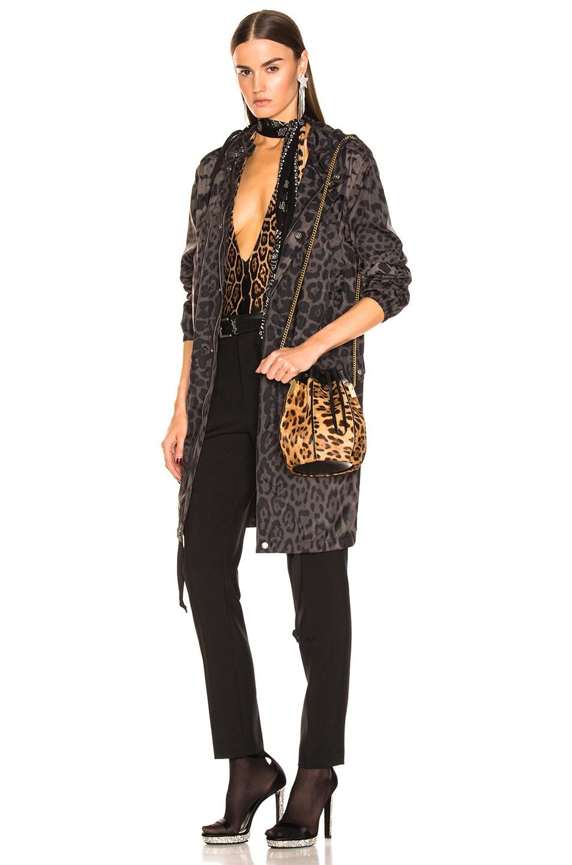 Image 2 of Saint Laurent Talitha Leopard Bag in Natural & Black
