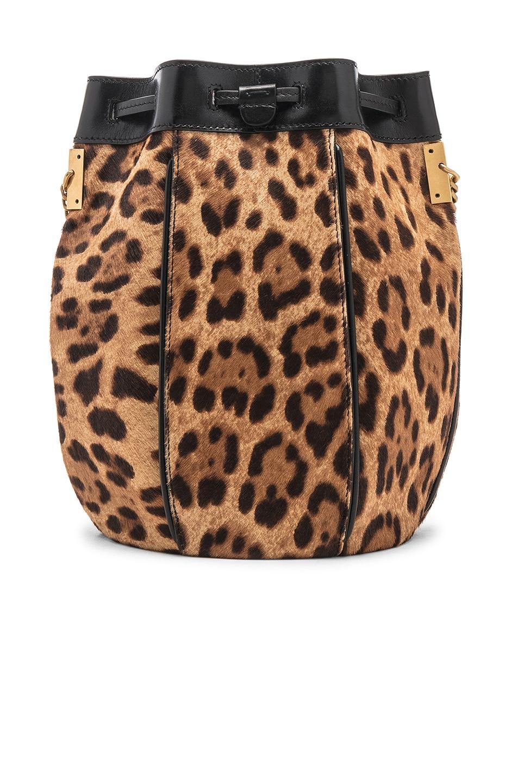 Image 3 of Saint Laurent Talitha Leopard Bag in Natural & Black