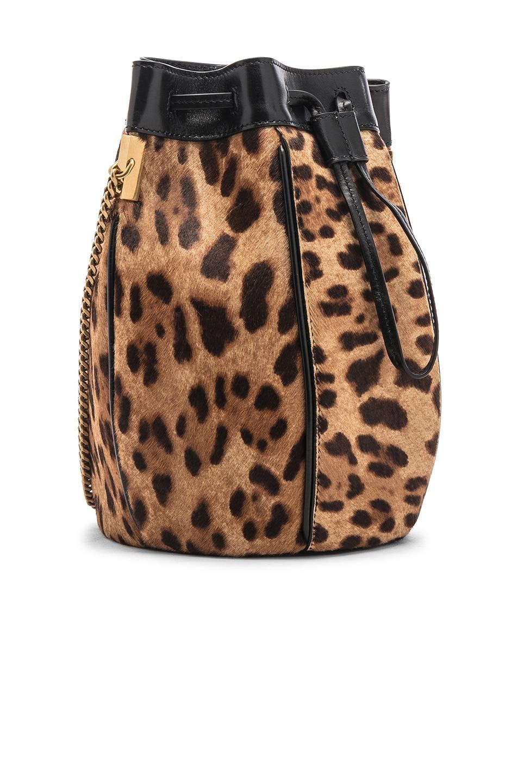 Image 4 of Saint Laurent Talitha Leopard Bag in Natural & Black