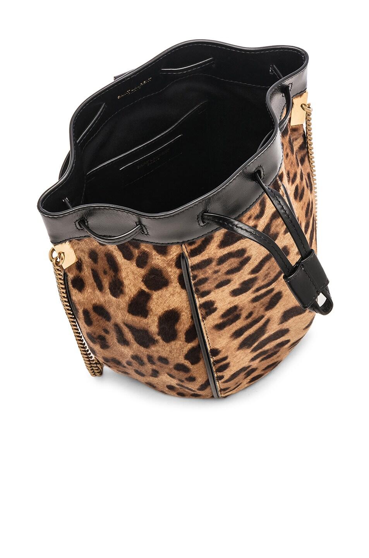 Image 5 of Saint Laurent Talitha Leopard Bag in Natural & Black