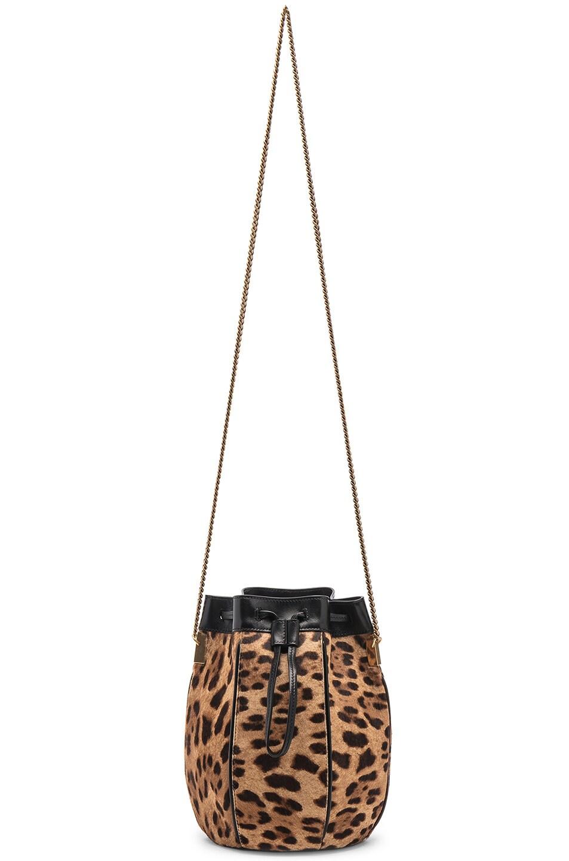 Image 6 of Saint Laurent Talitha Leopard Bag in Natural & Black