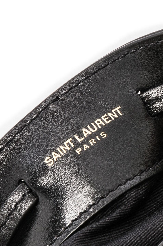 Image 7 of Saint Laurent Talitha Leopard Bag in Natural & Black