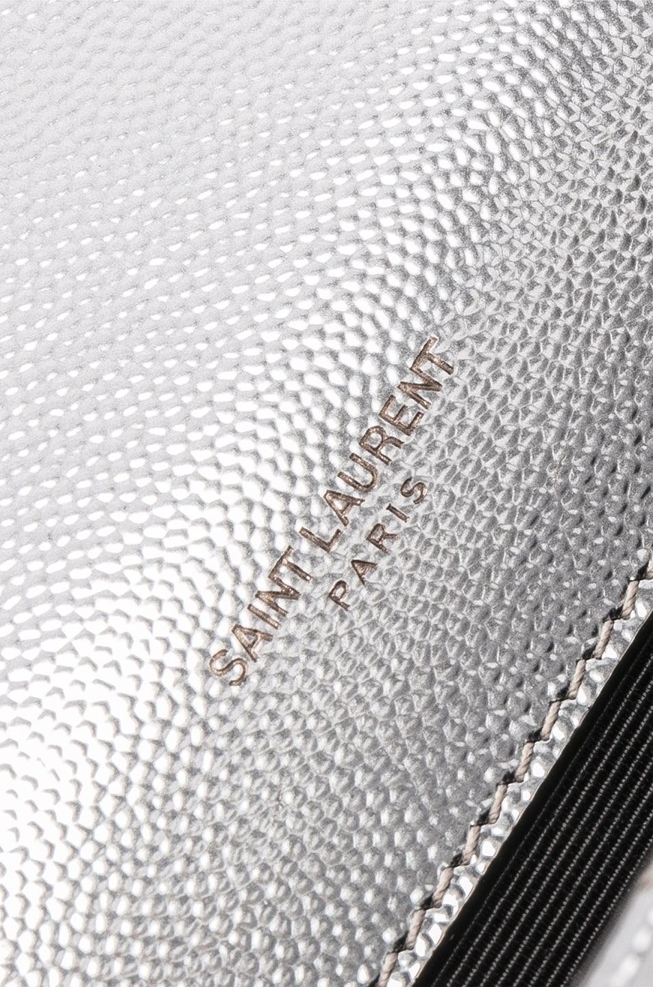 Image 7 of Saint Laurent Medium Envelope Monogramme Bag in Silver
