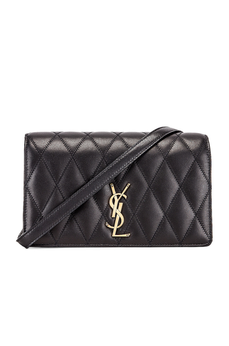 Image 1 of Saint Laurent Angie Chain Bag in Black