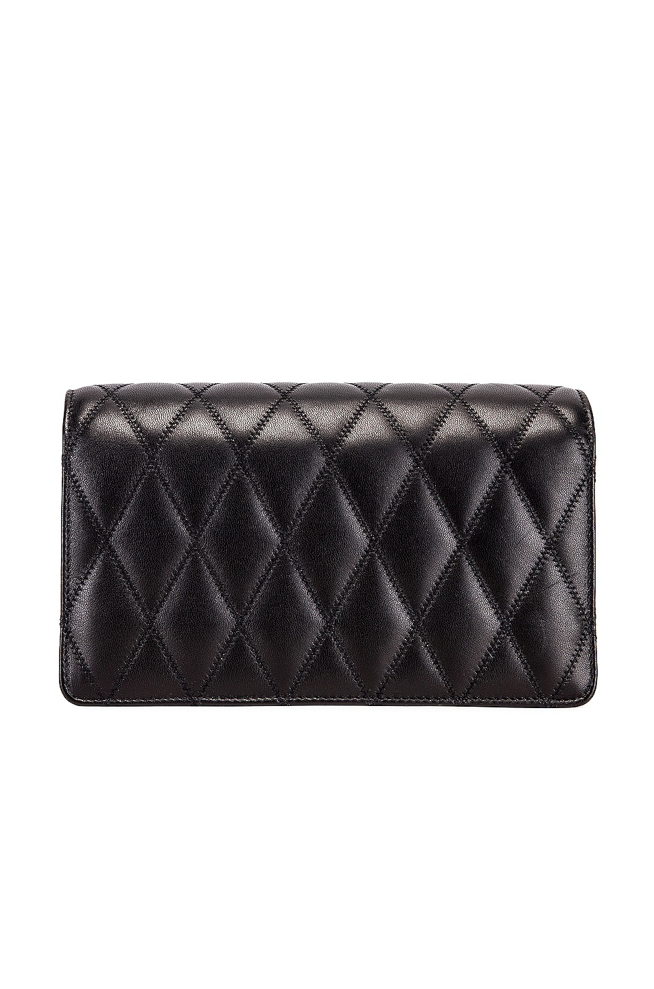 Image 3 of Saint Laurent Angie Chain Bag in Black