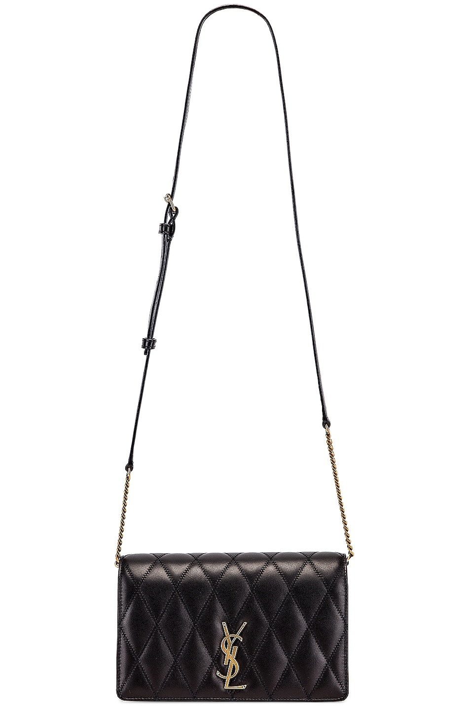Image 6 of Saint Laurent Angie Chain Bag in Black