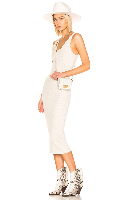Image 2 of Saint Laurent Mini Betty Satchel Bag in Blanc Vintage