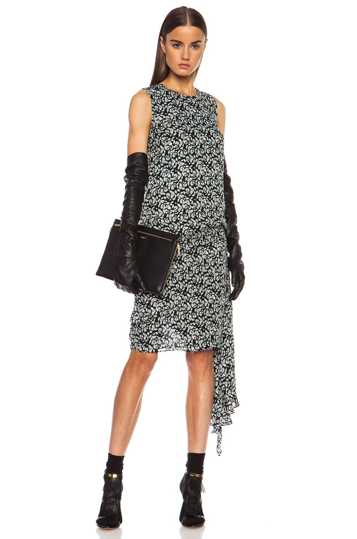 Image 2 of Saint Laurent Three Zipper Envelope Clutch in Black
