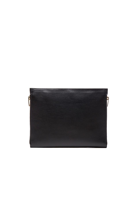 Image 3 of Saint Laurent Three Zipper Envelope Clutch in Black