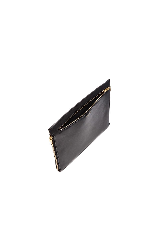 Image 5 of Saint Laurent Three Zipper Envelope Clutch in Black