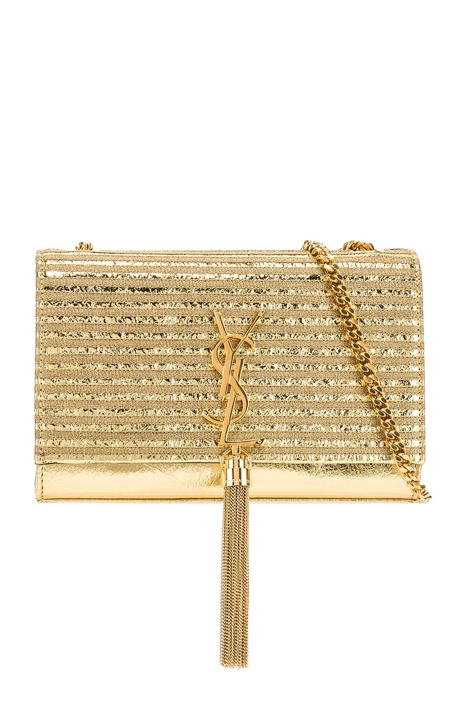 Image 1 of Saint Laurent Small Kate Chain Tassel Bag in Gold