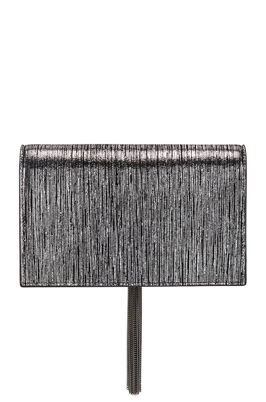 Image 3 of Saint Laurent Monogramme Kate Chain Tassel Wallet Bag in Black