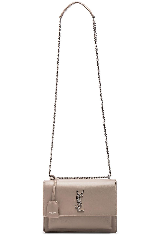 Image 6 of Saint Laurent Monogramme Sunset Shoulder Bag in Light Natural