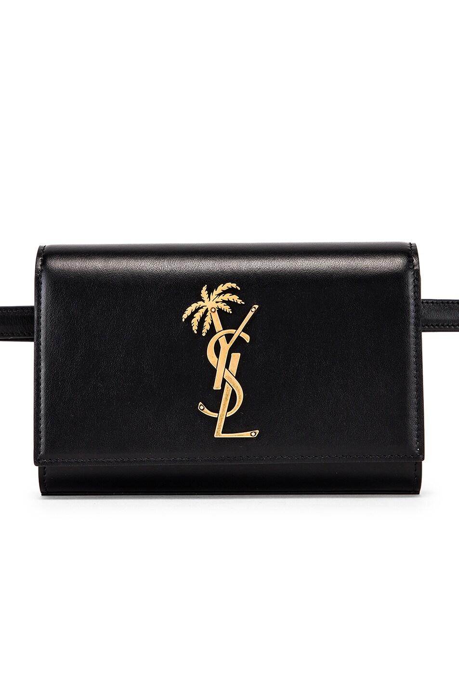 Image 1 of Saint Laurent Kate Belt Bag in Black