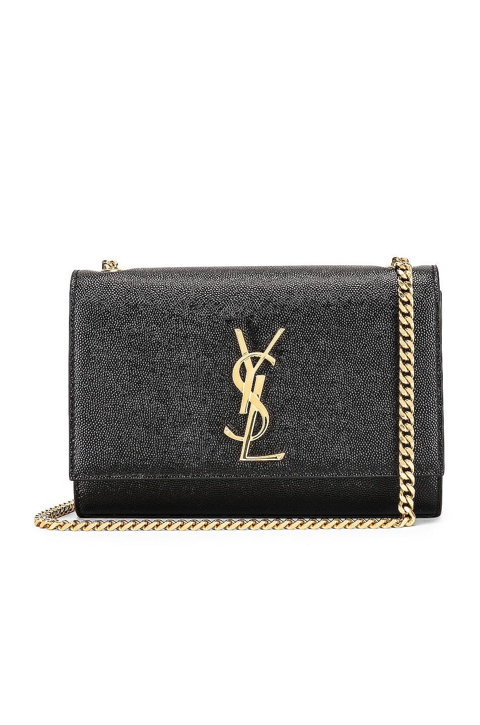 Image 1 of Saint Laurent Small Kate Monogramme Chain Bag in Black