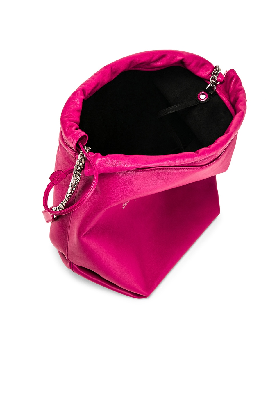 Image 5 of Saint Laurent Supple Logo Teddy Pouch in Rose Freesia