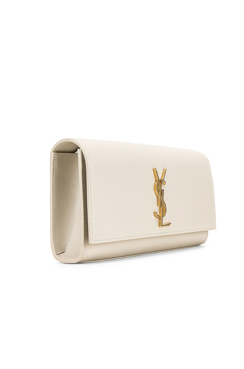 Image 4 of Saint Laurent Kate Clutch in Blanc Vintage