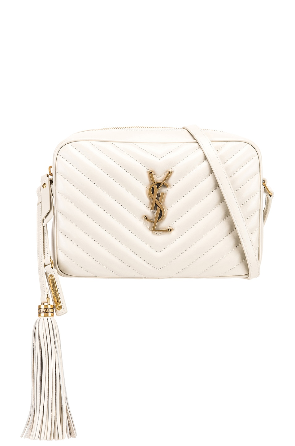 Image 1 of Saint Laurent Medium Monogramme Lou Satchel in Blanc Vintage