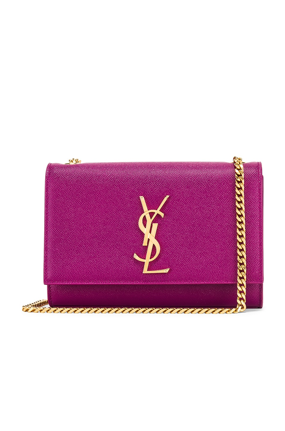 Image 1 of Saint Laurent Small Kate Monogramme Chain Bag in Light Grape