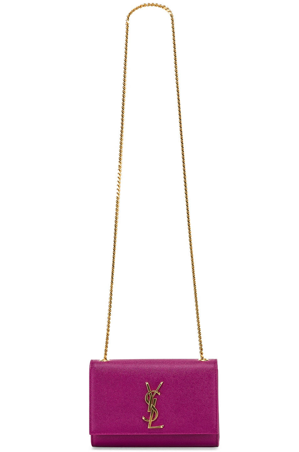 Image 6 of Saint Laurent Small Kate Monogramme Chain Bag in Light Grape