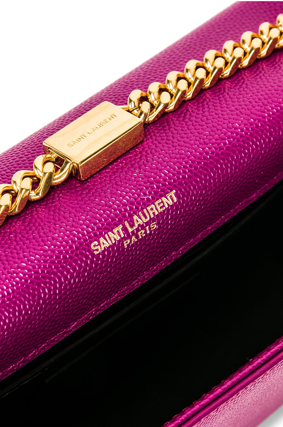 Image 7 of Saint Laurent Small Kate Monogramme Chain Bag in Light Grape