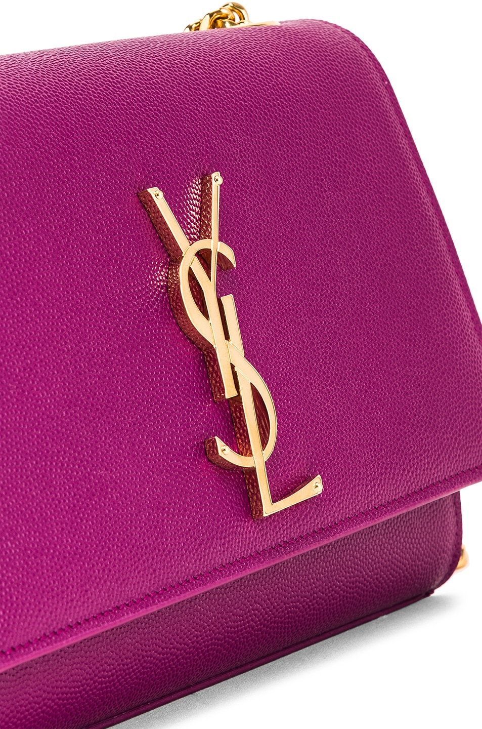 Image 8 of Saint Laurent Small Kate Monogramme Chain Bag in Light Grape