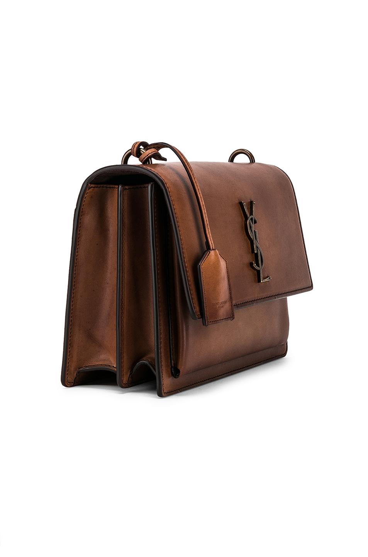 Image 4 of Saint Laurent Medium Monogramme Sunset Bag in Natural Brown