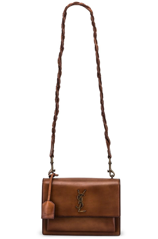 Image 6 of Saint Laurent Medium Monogramme Sunset Bag in Natural Brown