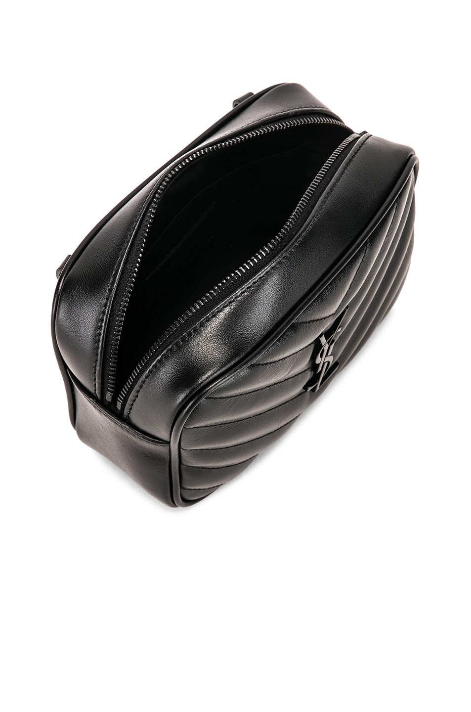 Image 5 of Saint Laurent Monogramme Lou Hip Belt with Pouch in Black